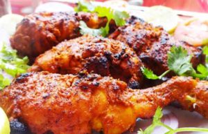 Tandoori chicken Recipe - How to make Roasted chicken(Without Oven)