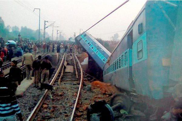 Sealdah Ajmer Express train accident - 15 coaches derailed, 44 injured