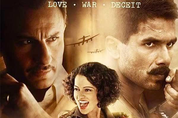 Rangoon Movie Review - Saif, Kangana & Shahid Starrer are getting thumbs up