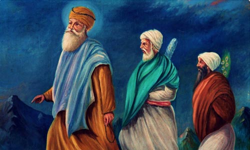 Guru Nanak often travelled with his two companions Bhai Bala and Bhai Mardana.