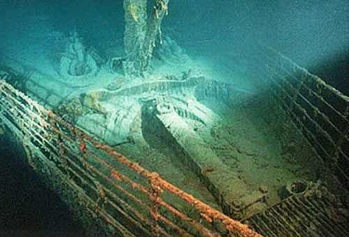 Titanic Ship Under water rare photo