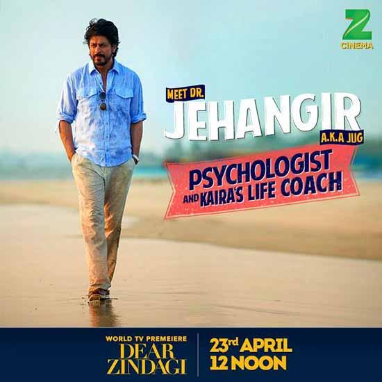 Shahrukh Khan as Dr. Jahangir in Dear Zindagi