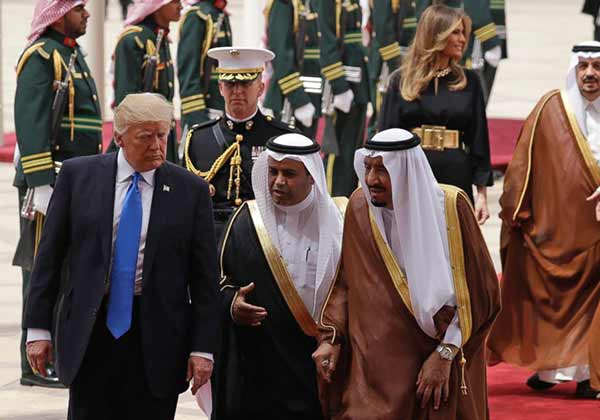 Donal Trump is on a visit to Saudi Arabia