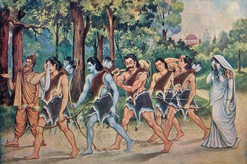 Pandavas go into exile for 12 years