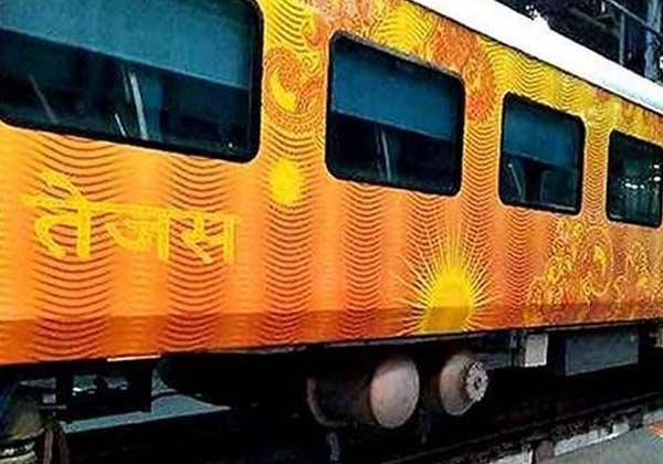 Railway minister Suresh Prabhu flagged off the train