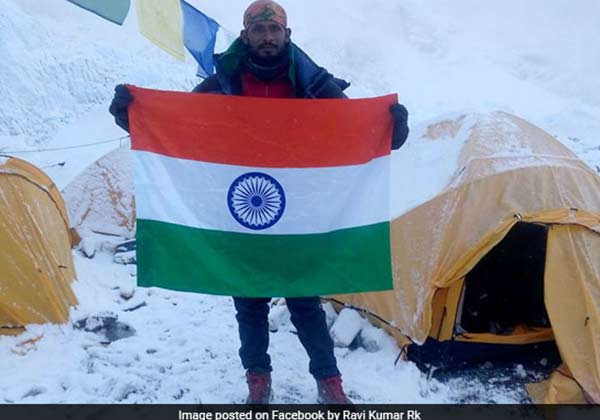 Ravi Kumar was found dead after he climbe Mount Everest