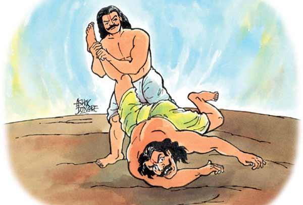 Bheem killed Duryodhana