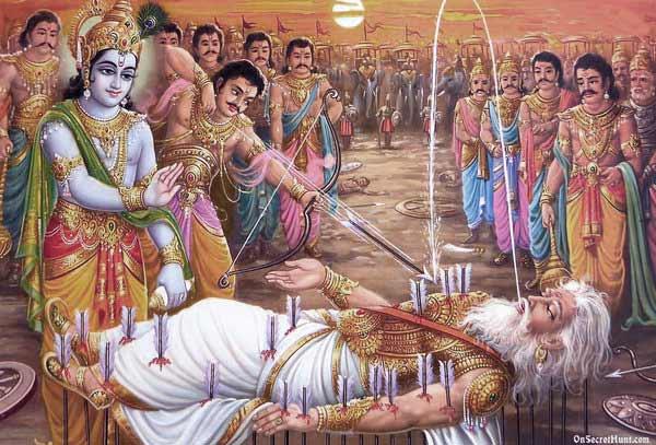 Bhishma pitamaha on ban shaya