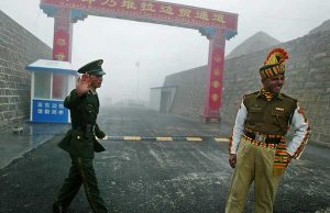 There is tension between Indian and Chinese troops at the border