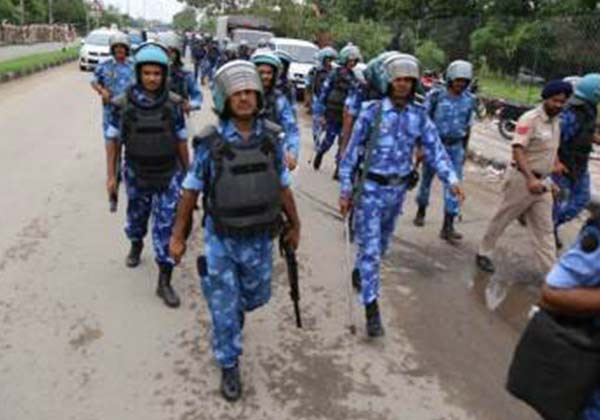 heavy security was deployed in Haryana